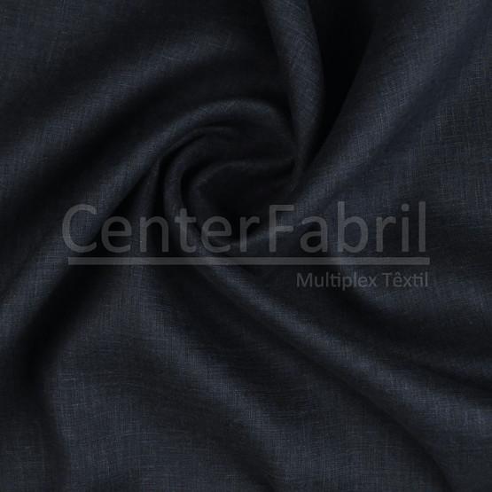 Tecido Cambraia Linho Marinho Lg145cm 100%Linho ref.180/201 corA80 - 125 gr/m²