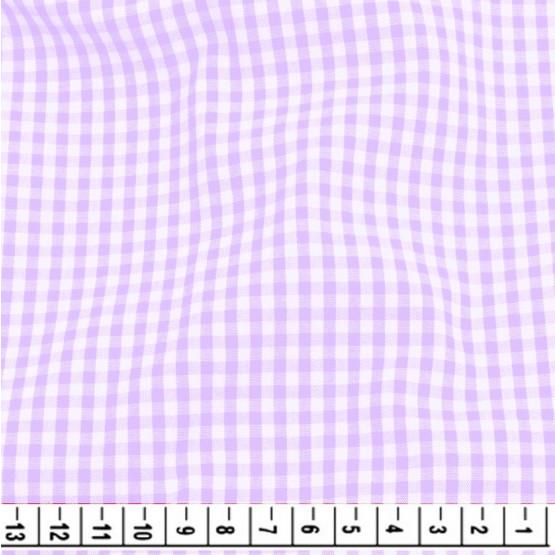 Tecido Tricoline Xadrez Vichy 8XM Lilas Larg 150cm 100%algodão