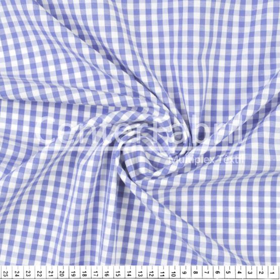 Tecido Tricoline Xadrez Vichy Azul Royal 9xm Larg 1,50mt 100%algodão ref 1034 1045