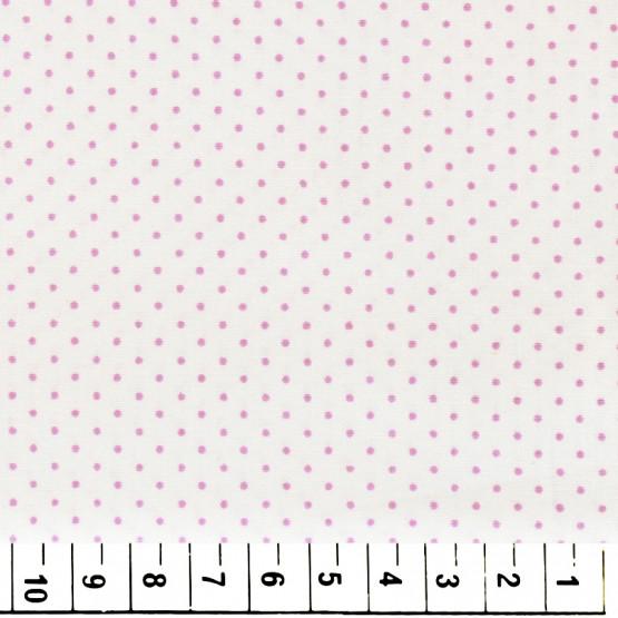 Tecido Tricoline Bola Lilas Fundo Branco Larg 140cm 100% algodão