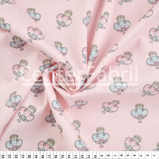 Tecido Tricoline Estampa Cogumelos Rosa Largura 150cm 100%Algodão Conserv 1-I/2-2/3-2/4-1/5-2/6-1