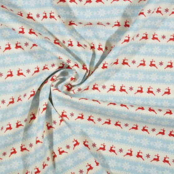 Tecido Tricoline Col. Natal Winter Christmas 01 Larg.150cm 100%Algodão