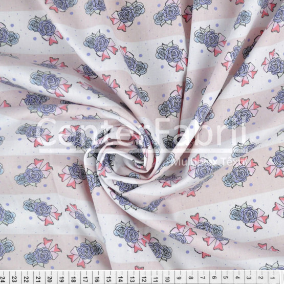 Tecido Tricoline Rosa com Laços Largura 150cm 100%Algodão Conserv 1-I/2-2/3-2/4-1/5-2/6-1