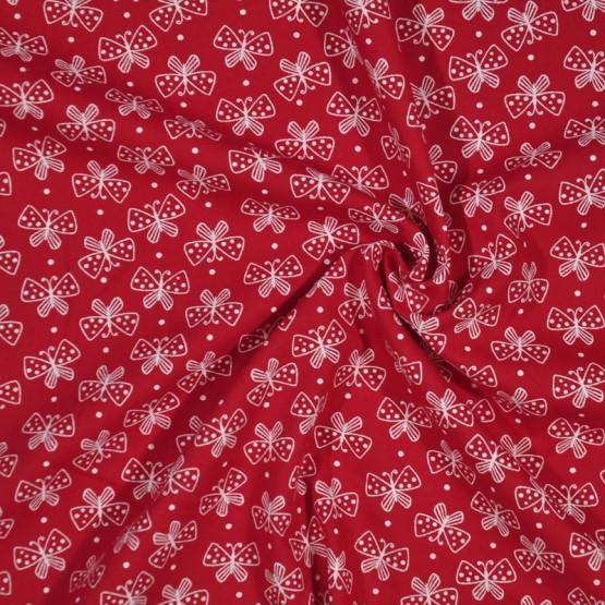 Tecido Tricoline Estampa Mini Borboletas Vermelho Largura 150cm 100%Algodão Conserv 1-I/2-2/3-2/4-1/5-2/6-1