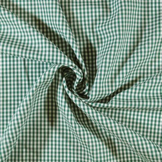 Tecido Tricoline Xadrez Fio Tinto Verde Bandeira Larg.147cm 200gr/m2