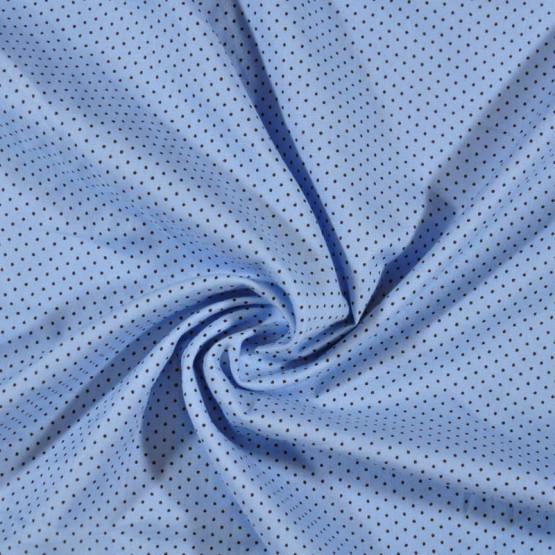 Tecido Tricoline Bola Marrom Fundo Azul Larg 140cm 100% algodão