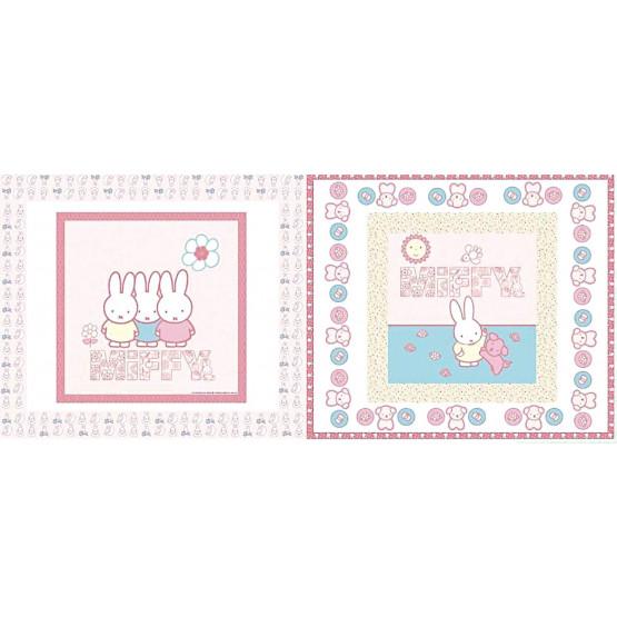 Tecido Tricoline Estampado Coleção Miffy Girls Rosa (QUADRO 65cm x 150cm, preço por quadro) 100%Algodão. Conserv1-I/2-2/3-2/5-3/6-2