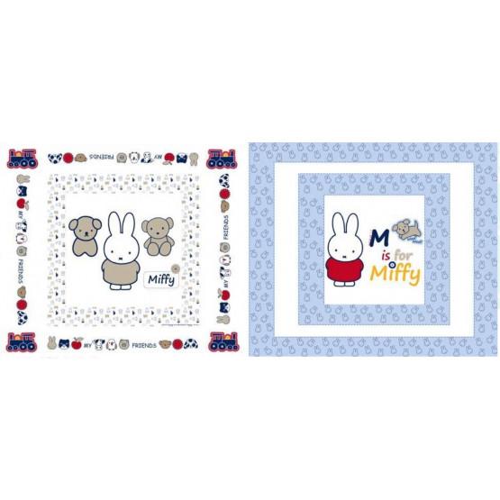 Tecido Tricoline Estampado Coleção Miffy Boys Azul (QUADRO 64cm x 150cm) 100%Algodão. Conserv1-I/2-2/3-2/5-3/6-2