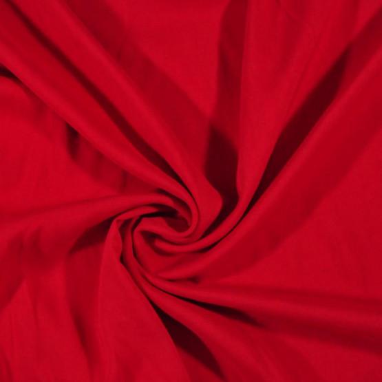 Tecido Viscose Twill Lisa Vermelho Ferrari Larg140cm 100%Viscose 115gr/m2.Conserv1-N/2-2/3-2/5-3/6-1