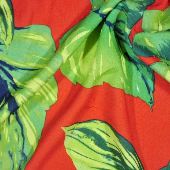 Tecido Viscose Estampada Fdo Ceramica Largura 140cm 100%Viscose 115gr/m2
