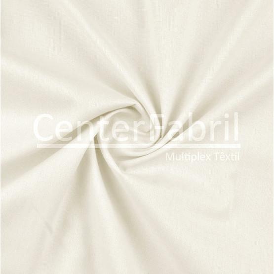 Tecido Percotton 380 Liso Off White Larg.160cm 100%Algodão