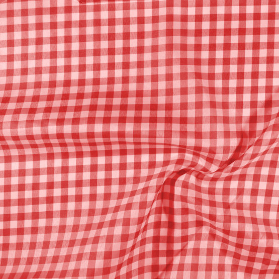 Tecido Xadrez Poly Picnic 20x20 Vermelho 1cm Largura 140cm 100%Poliester. Conserv1-I/2-2/3-3/4-3/6-1/4-1