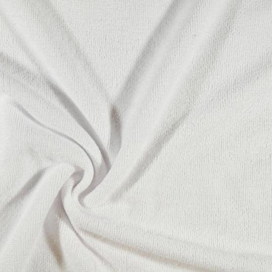 Tecido Atoalhado Felpudo Microfibra Branco Largura 145cm 80%Poliester 20%Poliamida