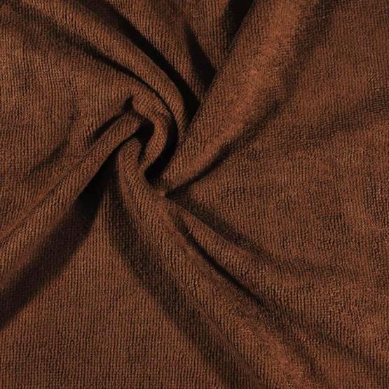 Tecido Atoalhado Felpudo Microfibra Marrom Largura 145cm 80%Poliester 20%Poliamida