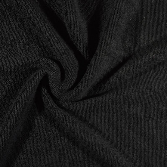 Tecido Atoalhado Felpudo Microfibra Preto Largura 145cm 80%Poliester 20%Poliamida 205gr/m2