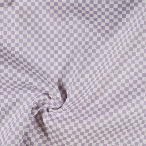 Tecido para Bordar Xadrez Vencedora Lilás Larg 140cm 100%Algodão