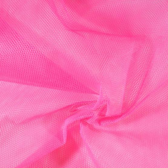 Tecido Filó para Armação  Rosa Pink  Larg. 280cm 100%Poliester 23gr/m2