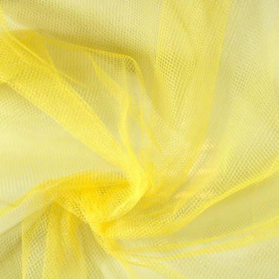 Tecido Filó para Armação Amarelo Larg. 280cm 100%Poliester 23gr/m2