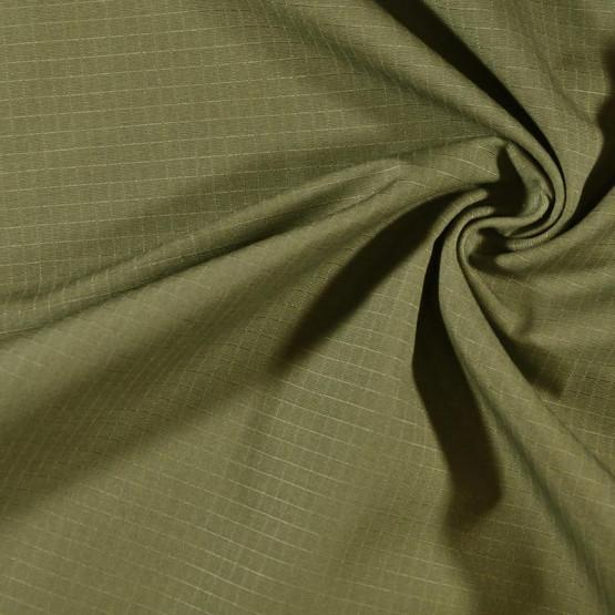 Tecido Brim Rip Stop Unilester Profissional Caqui Esverdeado Larg.160cm  67%Poliester 33%Algodão - 230gr/m2. Conserv1-D/2-2/3-2/5-2/6-1/6-3