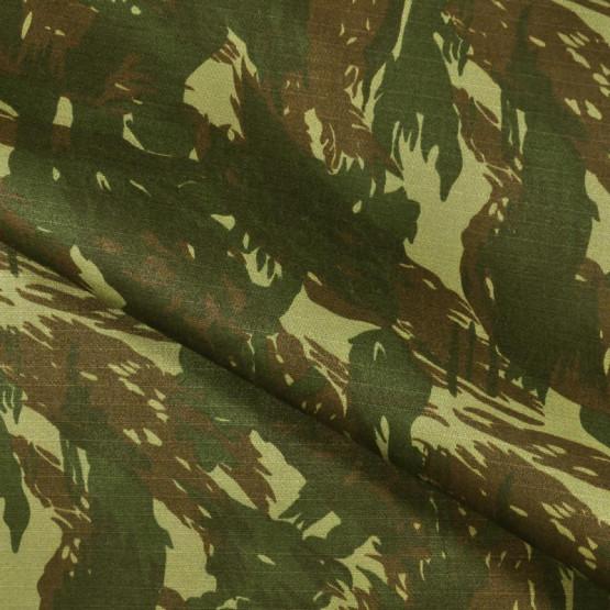 Tecido Brim Rip Stop Combat Profissional Camuflado A.Solidez Exercito Larg.160cm  67%Poliéster/33%Algodão - 236gr/m2. Conserv 1-D/2-2/3-1/5-2/6-1