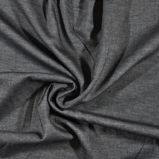 Tecido Chambray Jacquard Jeans Preto Larg.150cm 100% Algodão