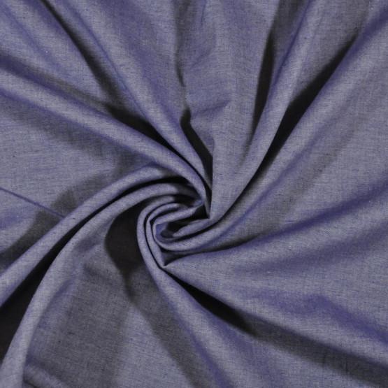 Tecido Chambray Jacquard Jeans Azul Marinho Larg.150cm 100% Algodão