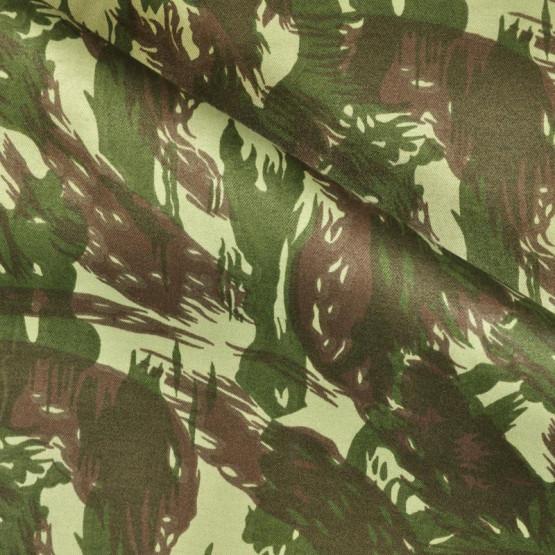 Tecido Sarja Cotton Estampa Camuflado c/Elastano Larg.140cm 77%Algodão 21%Poliester 2%Elastano corL0156C