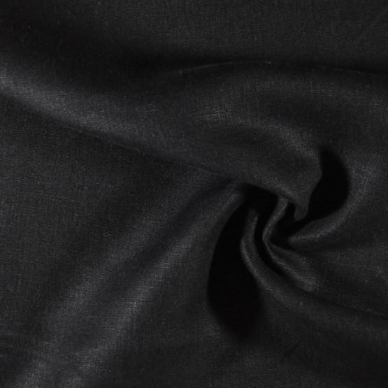 Tecido Linho Preto Larg 150cm 100% Linho para Calça e Blazer 215gr/m2