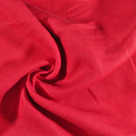 Tecido Linho Vermelho  Larg 150cm 100% Linho para Calça e Blazer 215gr/m2