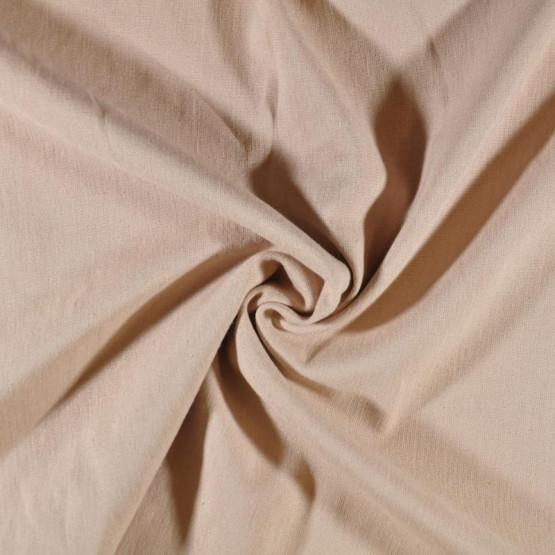 Tecido Linho c/Elastano Bege Largura 140cm 51%Viscose 47%Linho 2%Elastano