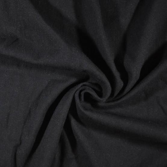 Tecido Linho c/Elastano Preto Largura 140cm 51%Viscose 47%Linho 2%Elastano