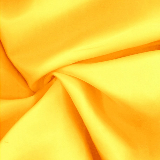 Tecido Cetim Charmeuse Amarelo Ouro ger/cn 100% Poliester