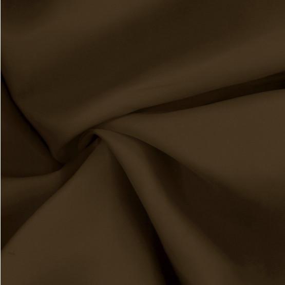 Tecido Cetim Charmeuse Marrom Chocolate ger/cn 100% Poliester