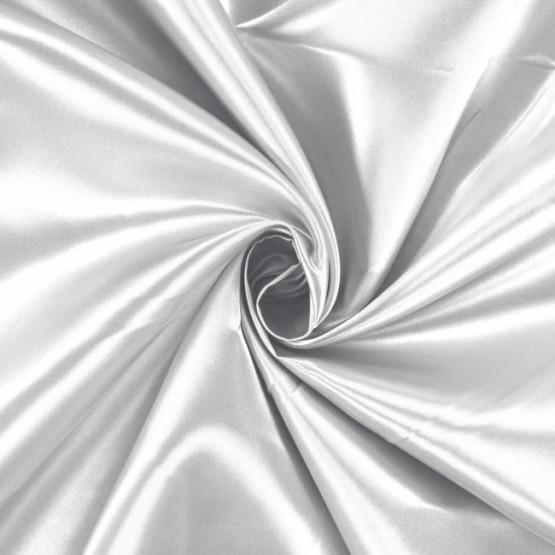 Tecido Cetim Charmeuse c/elastano Liso Branco Larg147cm 97%Poliester.3%Elastano. Conserv1-J/2-2/3-3/4-5/5-3/6-1