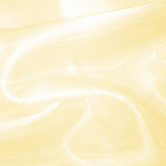 Organza Cristal Amarelo com brilho Lg.147cm 100%Poliester