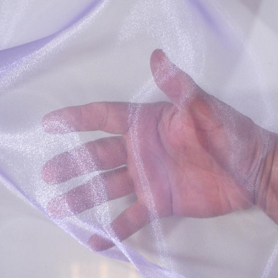 Organza Cristal Lilás com brilho Lg.147cm 100%Poliester