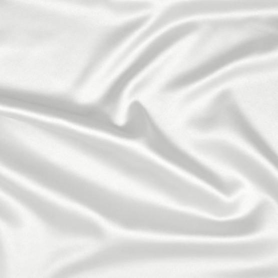 Tecido Cetim Fusion Stretch Brilho Leve Branco Larg 145cm 97%Poliester 3%Elastano 92gr/m2