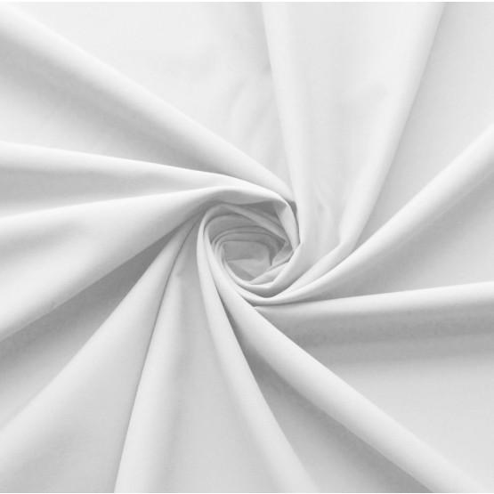 Tecido Microsurf Extra c/Elastano  Branco Larg 150cm 92%Poliester 8%Elastano 150gr/m2. Cnsrv 1-M/2-2/3-3/4-5/5-3/6-1/6-3