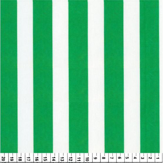 Tecido Cetim estampado Listrado Branco e Verde Larg. 1,47mt 100% Poliester