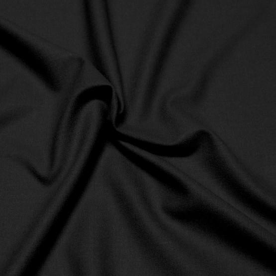 Tecido Crepe Lã Lisa Preta Hisud Larg 150cm -100%Lã. Conserv 1-P/2-2/3-3/5-4/6-2