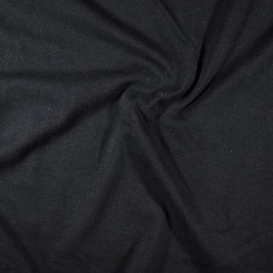 Meia Malha Preta Fio Pentado 30/1 Tubular Larg.90cm 100% Algodão- Preço por metro - 150gr/M2