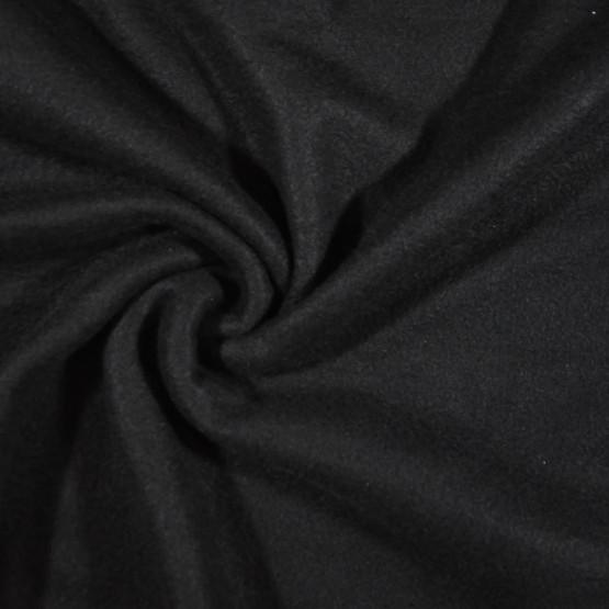 Tecido Soft Liso Preto Larg.160cm 100%Poliester 225gr/m2 Ref.Dec