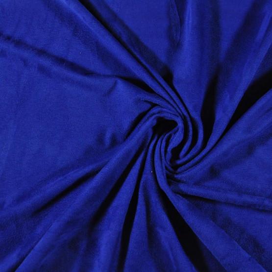 Malha Suede Moda Lisa Azul Royal Larg 150cm 90% Poliester/10% Elastano Venda por Metro