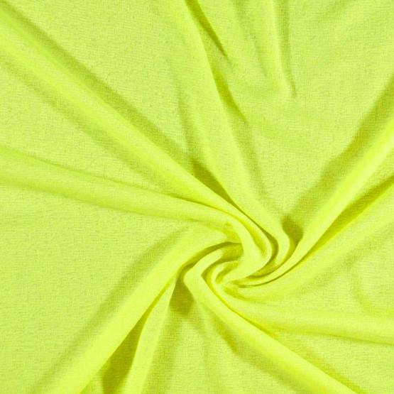 Malha FIT Barcelona Liso Amarelo Fluor Larg 160cm 100%Poliester ref.119cor 01r - Preço por metro