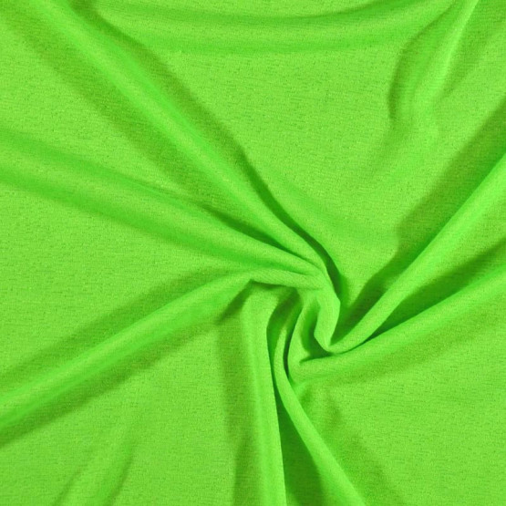 Malha FIT Barcelona Liso Verde Fluor Larg 160cm 100%Poliester ref.119cor 03r - Preço por metro