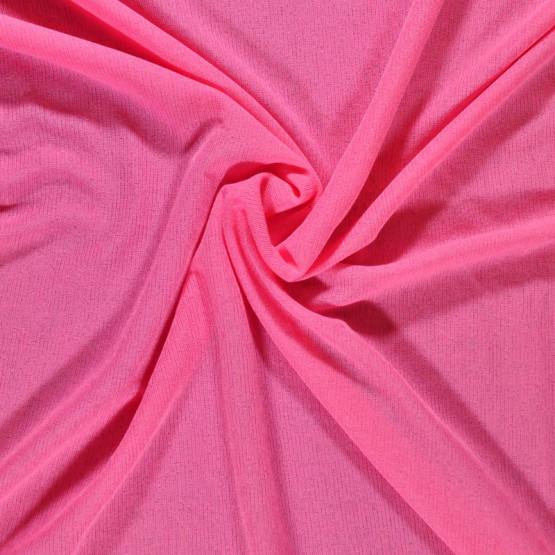 Malha FIT Barcelona Liso Rosa Fluor Larg 160cm 100%Poliester ref.119cor007r - Preço por metro