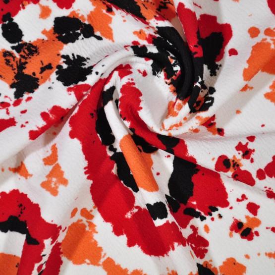 Tecido Malha Crepe Tie Dye Larg 150cm 96%Poliester 4%Elastano - Preço por metro