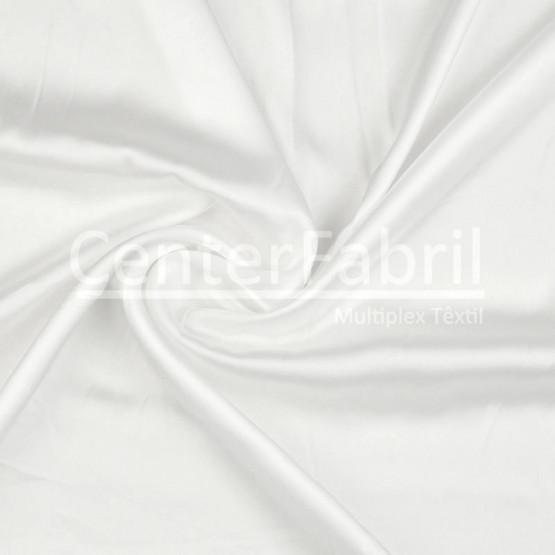 Tecido Cetim Charmeuse Duo Fosco Off White Largura 3,00mt  100%Poliester 103gr/m2