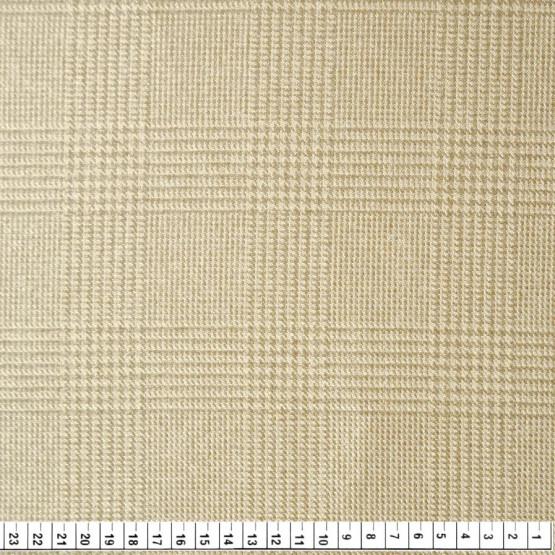 Tecido Jacquard England Principe Gales Brianza Kaki/Bege Larg.140cm 100% Poliéster