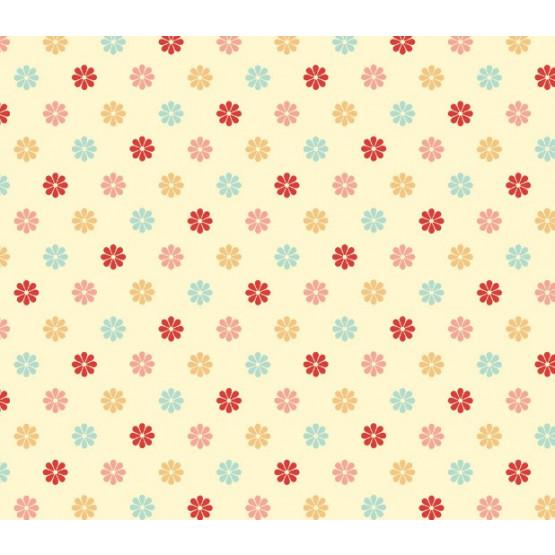 Tecido Tricoline MULTICOLOR LITTLE FLOWERS - Larg 150cm 100%Algodão Conserv 1-I/2-2/3-2/4-1/5-2/6-1